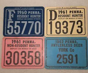 1960S LOT HUNTER LICENSE PA. ANTERLESS DEER,RESIDENT, NON-RESIDENT PENNA.