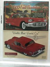 New ListingDanbury Mint 1960 Ford Thunderbird Coupe *Original Brochure, Title & Care Only*