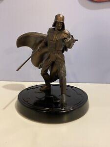 Authentic Star Wars Darth Vader Figurine Disney Store Exclusive Bronze Statue