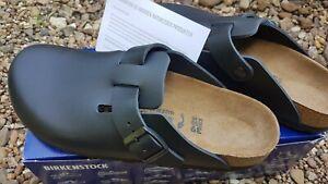 Neu Birkenstock Boston Clogs schwarz Naturleder Leder Gr.39 schmale Weite