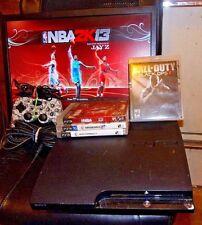 SONY PLAYSTATION 3 (PS3) CECH-2501A SLIM CONSOLE 160GB BUNDLE -W/4 GAMES