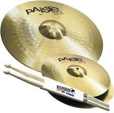 Paiste 101 Becken Set 14 Hihat 20 Ride Beckenset +  Keepdrum Drumsticks