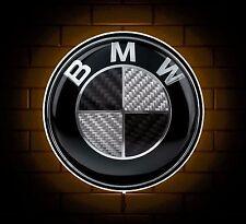 BMW BLACK BADGE SIGN LED LIGHT BOX MAN CAVE GARAGE WORKSHOP GAMES ROOM GIFT