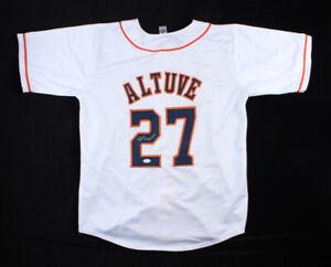 Jose Altuve Signed Houston Astros White Jersey (JSA COA) 2xAll Star 2nd Baseman
