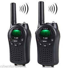 T-668 8-Channel LCD Screen Walkie Talkie 5km Range Twintalker PMR Autoscan BLACK