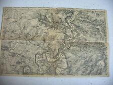 carte E.M. ancienne CROUY SUR OURCQ et ses environs SEINE ET MARNE 77