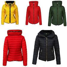 mujer chaqueta Alto Cuello Burbuja Acolchado Abrigo PIEL GRUESO