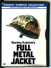 FULL METAL JACKET, used movie DVD, Vietnam War Stanley Kubrick film Adam Baldwin