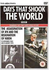 DAYS THAT SHOOK THE WORLD = ASSASSINATION OF JFK / RESIGNATION OF NIXON = PROMO