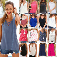 Fashion Women Sleeveless Tank Tops Summer Casual Vest Blouse Top T Shirt T-shirt