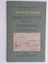 Dessin de paysage notions de perspective croquis - Demarquet - Lib. Nony