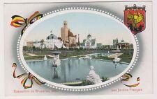 Bruxelles Exhibition 1910 postcard - Les Jardins Francais