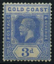 Gold Coast 1921-4 SG#91, 3d Bright Blue KGV MH #D51986