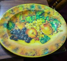 Daher Decorated Fruit Metal Tray 11 x 13 Made in England # 11101 Vintage