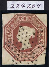 1848 SG 57 10d Embossed Stunning French Star of Dots with RPS Certificate