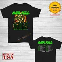 Overkill t Shirt Wings Over The USA Tour 2020 T-Shirt Size M-2XL Men Black