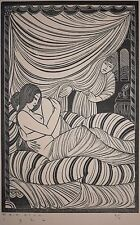 "Eric Gill (after) Woodblock ""Approaching Dawn"" A/P 1926, by Earl M. Washington!"
