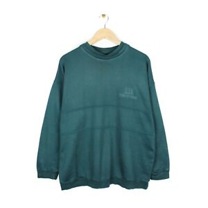 Dunhill Edition Mens Vintage Double Collar Green Made in England Sweatshirt - M