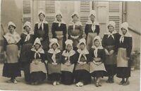 Jóvenes Chicas Tradición Historia Social Francia Foto Vintage Analógica CP