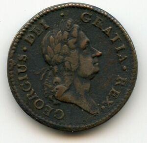 USA Colonial import,  William Wood's 'Hibernia' type 1722 Half Penny,  Ireland