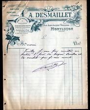 """MONTLUCON (03) VITRERIE PEINTURE PLATRERIE """"A. DESMAILLET"""" en 1900"""
