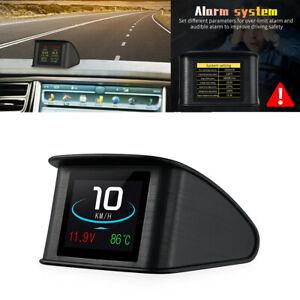 Smart Car Digital HUD Head Up Display OBD2 Car Speed Projector RPM Alarm Temp