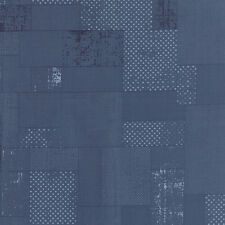 Garden Project By the yard Blue denim color patchworks cotton print Moda