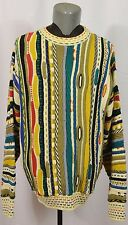 VTG Tosani Made in Canada 3D Sweater L Textured Biggie Smalls Cosby