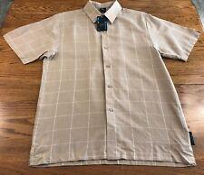 Steve Harvey Celebrity Edition S/S Button Front Shirt Size L  NWT Linen Blend
