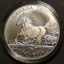 Canada 2015 $100 Canadian Horse Little Iron Horse .9999 1 oz silver coin