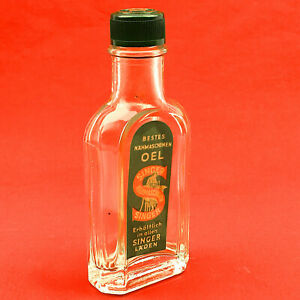 VTG SINGER Sewing Machine Oil Glass Bottle Container 30ml German