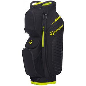 NEW TaylorMade 2020 Cart Lite Black/Neon Lime 14-Way Cart Golf Bag