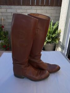 Vintage 1970's Dehner Leather Tall Riding Boots USA 24942 Ladies/Men??
