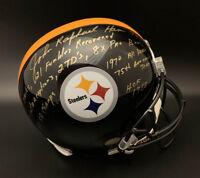 Jack Ham SIGNED Pitt Steelers F/S Helmet + Multi STAT ITP PSA/DNA AUTOGRAPHED