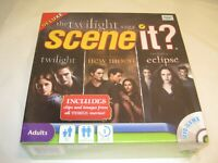 Deluxe Twilight Saga Scene It DVD game NEW 4 collectible tokens; scenes/3 movies