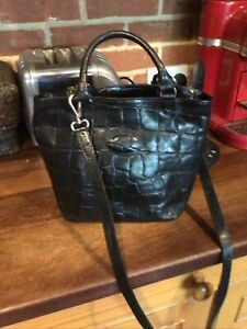 Mulberry Congo vintage black leather medium bucket crossbody bag
