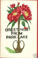 PARK LAKE GREETINGS FROM  POSTCARD