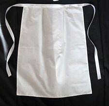 VICTORIAN  MAID COSTUME WHITE COTTON WAITRESS APRON