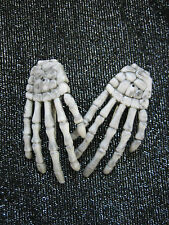 SKELETON HAND HAIR CLIPS .... ROCKABILLY / GOTH / EMO / CREEPY / HALLOWEEN