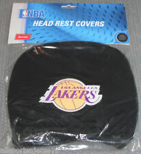NBA NWT HEAD REST COVERS -SET OF 2- LOS ANGELES LAKERS