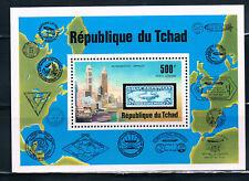 Chad Souvirnir Sheet of Zeppalin on a Stamp MNH