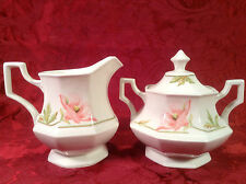 Johnson Bros. Brothers Spring Morning Creamer and Covered Sugar Bowl with Lid #2