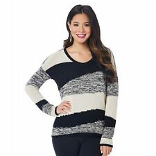 NEW $58 WOMENS DAISEY FUENTES DEEP OCEAN DROP SHOULDER SWEATER SIZE EXTRA LARGE