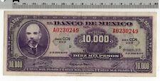 1978 Enero 18 El Banco de Mexico 10000 Pesos Serie CCN 2-U-5 Mexican Banknote