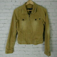 Abercrombie & Fitch Jacket Womens Small S Brown Corduroy Full Zip