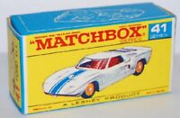 Matchbox Lesney No 41 Ford G.T. Repro empty box style F