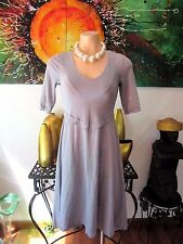 Mesop Blue Marble 3/4 Sleeve Swing Dress Size 1