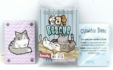 Cat Rescue (Card Game) Base + Clowder Time + Purple Expansion Family Co-op Game