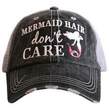 BASEBALL CAP- TRUCKER CAP -  MERMAID  HAIR DON'T CARE  HAT -MESH HAT