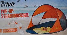 POP-UP-Strandmuschel UV-Schutz 40 inkl. Tragetasche, Erdnägel & Abspannseilen